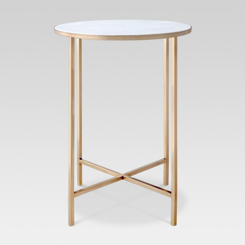 Marlton End Table Gold - Threshold was $114.99 now $57.49 (50.0% off)