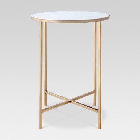Marlton End Table Gold - Threshold™ - image 1 of 6
