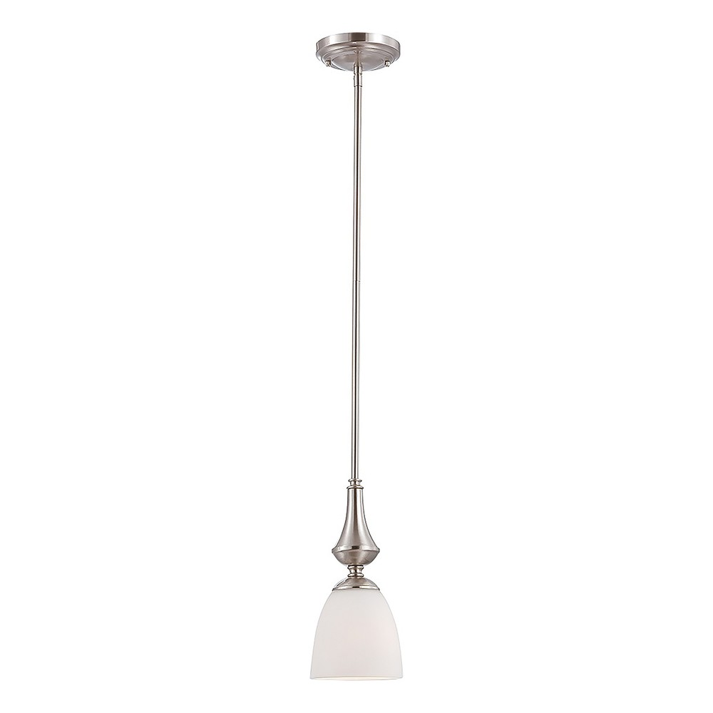 Mini Pendant with Frosted Glass Ceiling Lights - Z-Lite, Silver