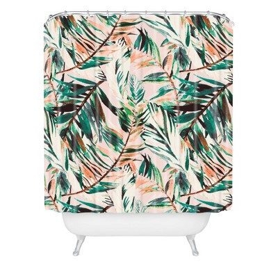 Marta Barragan Camarasa Tropical Leaf Desert Shower Curtain Green - Deny Designs