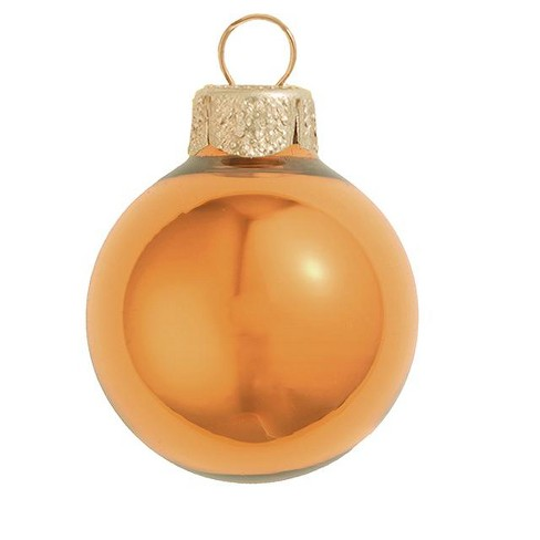 "Northlight 40ct Pearl Glass Ball Christmas Ornament Set 1.5"" - Burnt Orange - image 1 of 1"