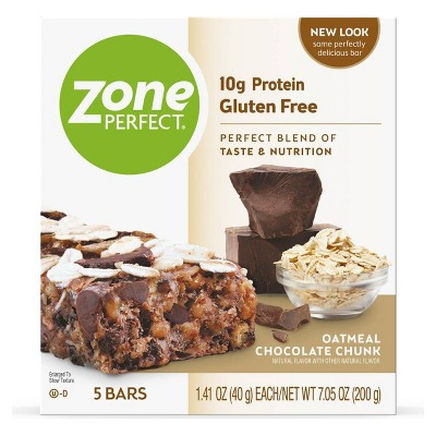 ZonePerfect Protein Bar Oatmeal Chocolate Chunk - 5 ct/7.05oz