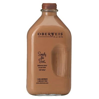 Oberweis Chocolate Milk - 0.5gal