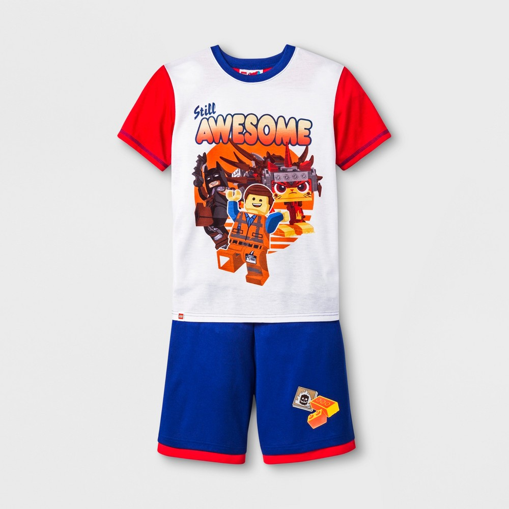 Boys' The Lego Movie 2pc Pajama Set - White/Red/Blue M