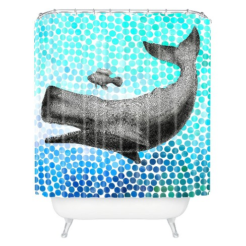 New Friends 3 Shower Curtain Aqua - Deny Designs® - image 1 of 1