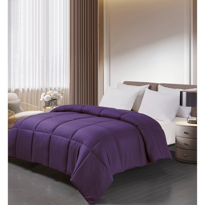 Full/Queen Microfiber Down Alternative Comforter Purple - Blue Ridge Home Fashions