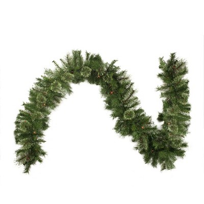 "Northlight 9' x 10"" Prelit Mixed Cashmere Pine Artificial Christmas Garland - Multi Lights"