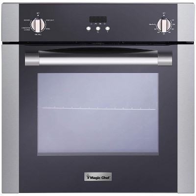 Magic Chef MCSWOE24S 2.2 Cubic Foot Built In Programmable Wall Convection Oven, Stainless Steel