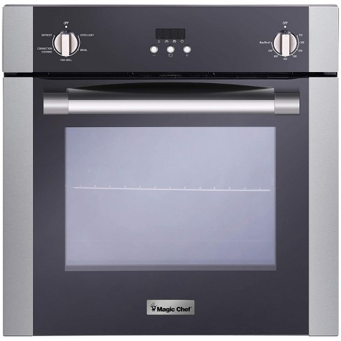 Magic Chef MCSWOE24S 2.2 Cubic Foot Built In Programmable Wall Convection Oven, Stainless Steel - image 1 of 4