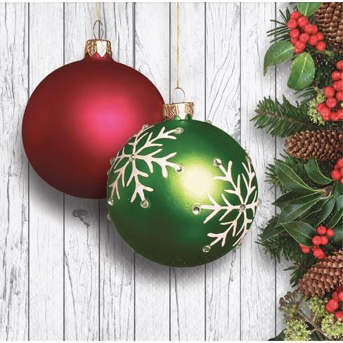 Christmas Ornaments Beverage Napkins - image 1 of 1