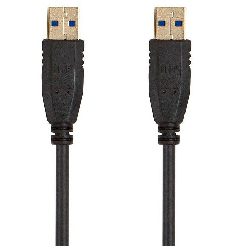 Monoprice USB 3.0 Type-A to Type-A Cable - 3 Feet - Black, For Data Transfer, Modems, Printers, Hard Drive Enclosures - Select Series - image 1 of 4