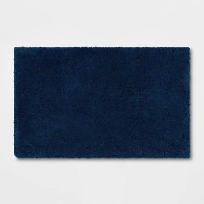 "21""x34"" Bath Rug Dark Blue - Threshold Signature™"