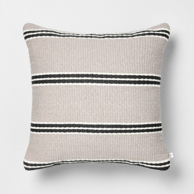 "18"" x 18"" Stripe Square Pillow - Hearth & Hand™ with Magnolia"