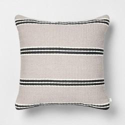 18x18 Stripe Square Pillow - Hearth & Hand™ with Magnolia