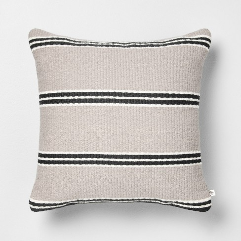 18x18 Stripe Square Pillow - Hearth & Hand™ with Magnolia - image 1 of 4