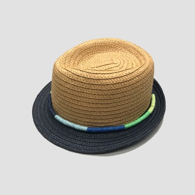 Baby Boys' Paper Straw Fedora - Cat & Jack™ Natural 0-3M