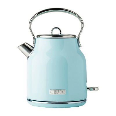 Haden Heritage 1.7L Stainless Steel Electric Kettle - Turquoise