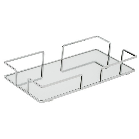 Bathroom Tray Silver Home Details