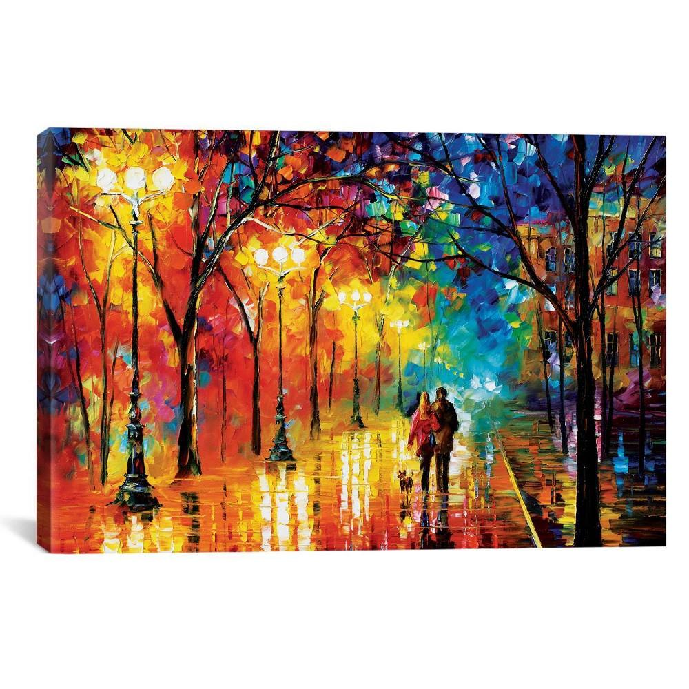 Romantic Evening by Leonid Afremov Canvas Print 18 x 26 - iCanvas, Blue