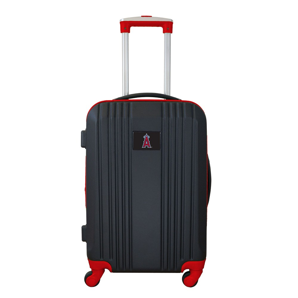 MLB Los Angeles Angels 21 Hardcase Two-Tone Spinner Carry On Suitcase