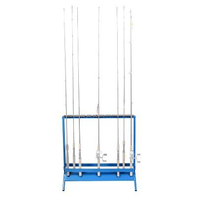 Viking Solutions VFR001 22 Rod Floor or Deck Powder Coat Steel Vertical Fishing Rod and Reel Holder Rack