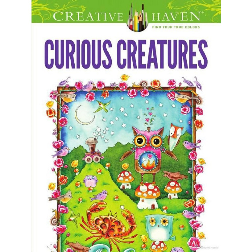 Creative Haven Curious Creatures Adult Coloring Book