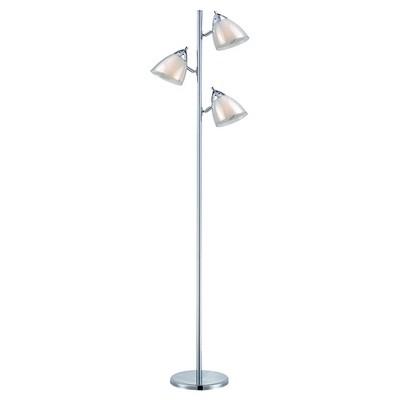 Selika Ii Floor Lamp Chrome/White (Includes CFL Light Bulb) - Lite Source