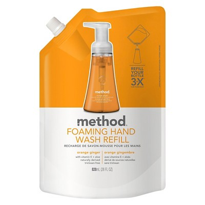 Method Foaming Hand Soap Refill Orange Ginger - 28 fl oz