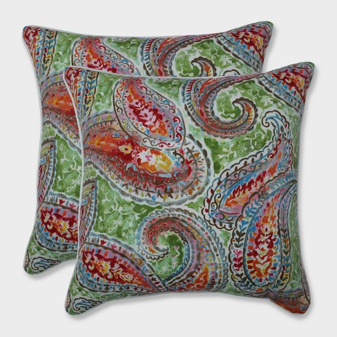 """18.5"""" 2pk Bright and Lively Fiesta Throw Pillows Green - Pillow Perfect - image 1 of 1"""