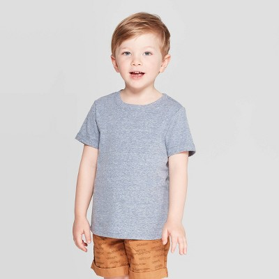 Toddler Boys' Snow Jersey Roll Cuff T-Shirt - Cat & Jack™ Navy 12M