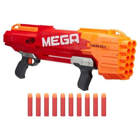 nerf n strike mega twinshock blaster target