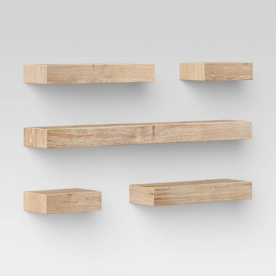 Set of 5 Wall Shelf Natural - Project 62™
