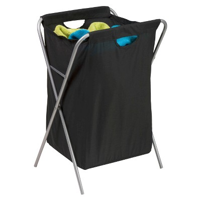 Honey-Can-Do Foldable Nylon Hamper Black