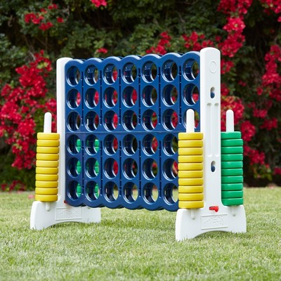 ECR4Kids Jumbo Four-To-Score Giant Game-Indoor/Outdoor 4-In-A-Row Connect - Blue and Gold