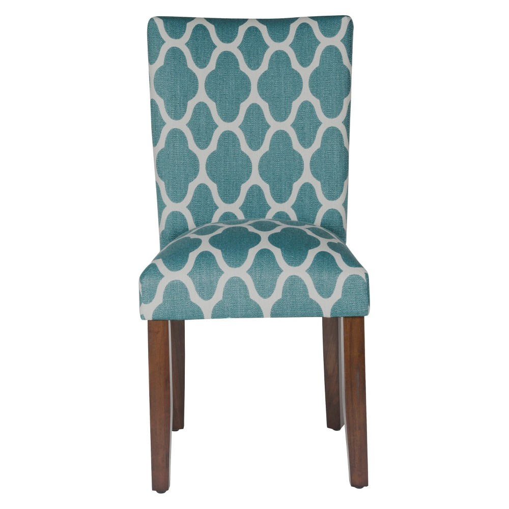 Set of 2 Parson Dining Chair Teal Geo - HomePop was $209.99 now $157.49 (25.0% off)