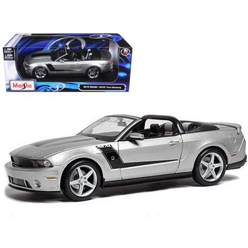 2010 Ford Mustang Convertible 427R Roush Edition Silver 1/18 Diecast Model Car by Maisto - image 1 of 1