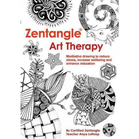 Zentangle Art Therapy Adult Coloring Book. : Target