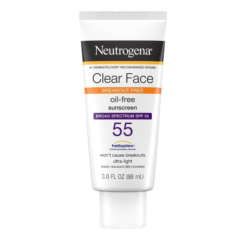 Neutrogena Clear Face Sunscreen Lotion - SPF 55 - 3oz - image 1 of 4