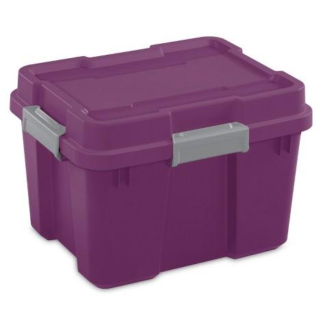 Sterilite 20 Gallon Heavy Duty Plastic, 20 Gallon Storage Tote
