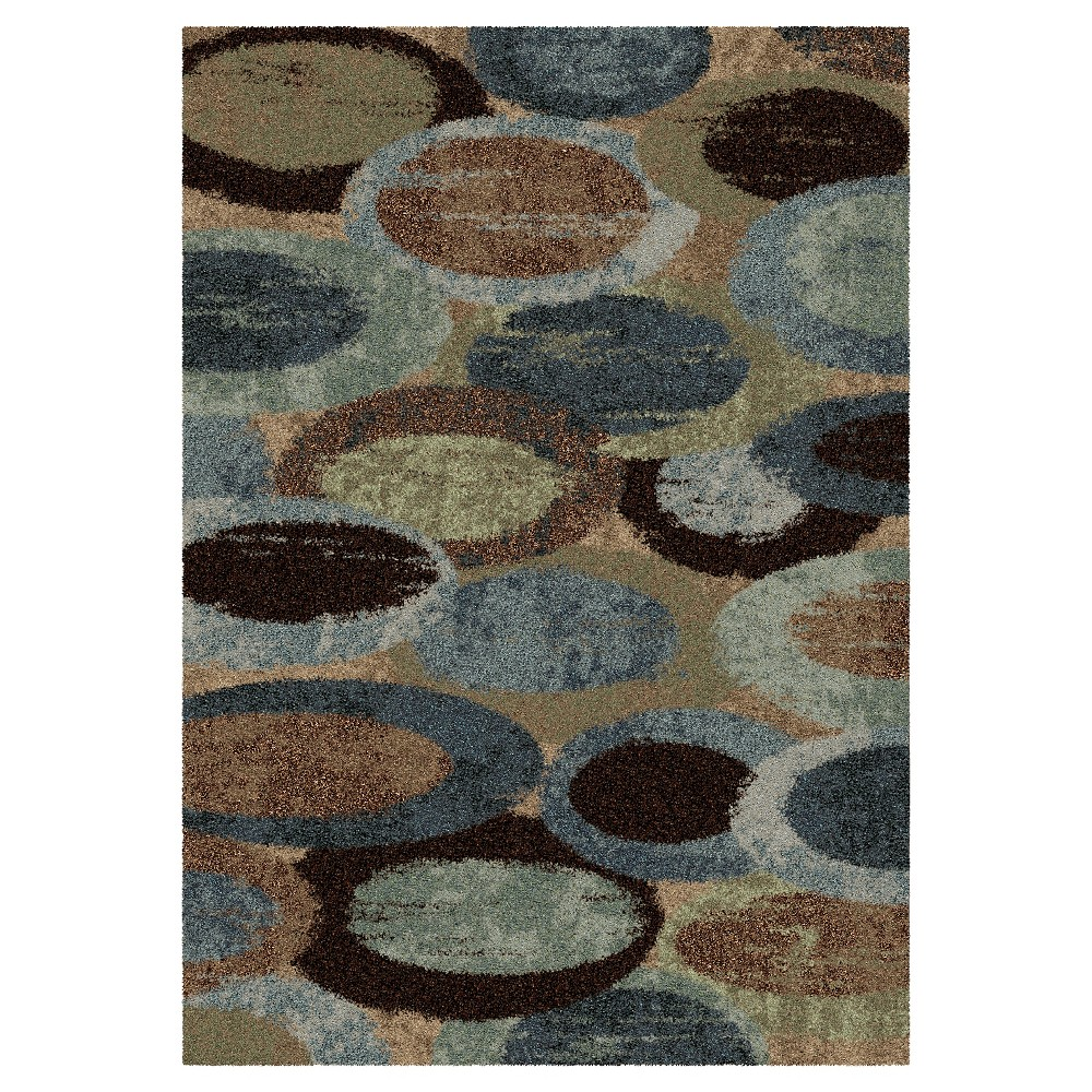 Blue Solid Woven Area Rug - (7'10