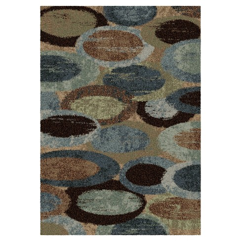 Bubbly Blue Rug - Orian - image 1 of 4