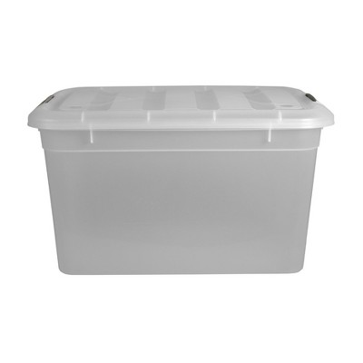 Home Logic 55qt Latching Storage Bin Clear