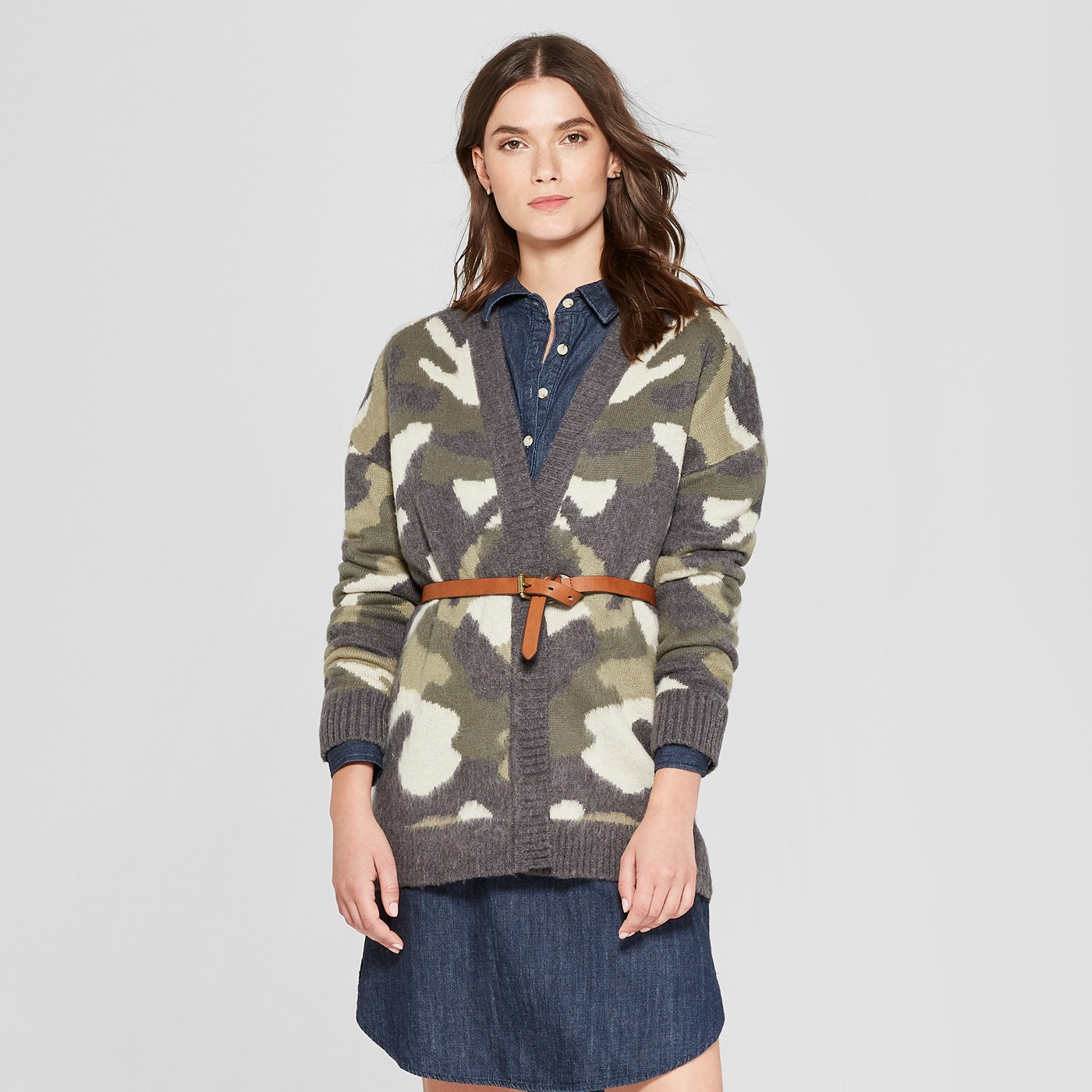 "Women's Camo Open Cardigan - Universal Threadâ""¢ Camo - image 1 of 3"