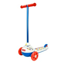 Fisher-Price Retro Popping Scooter, Kids Unisex, White