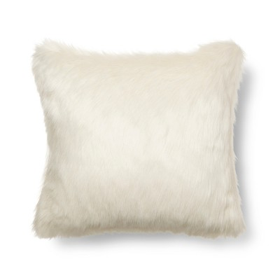 Cream Mini Faux Fur Throw Pillow - Threshold™