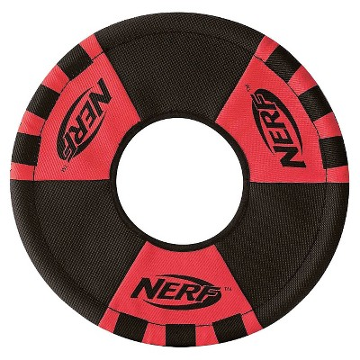 """NERF Trackshot Toss and Tug Ring Pet Toy - Red - 9"""""""