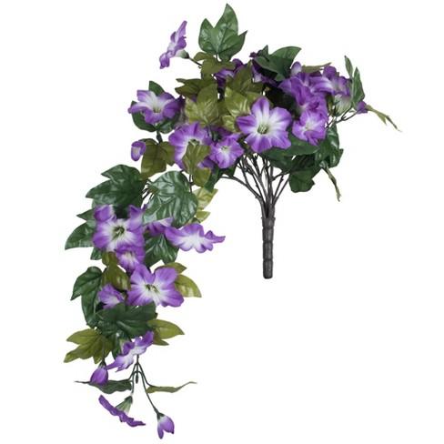"Vickerman 22"" Artificial Purple Petunia Bush. - image 1 of 4"