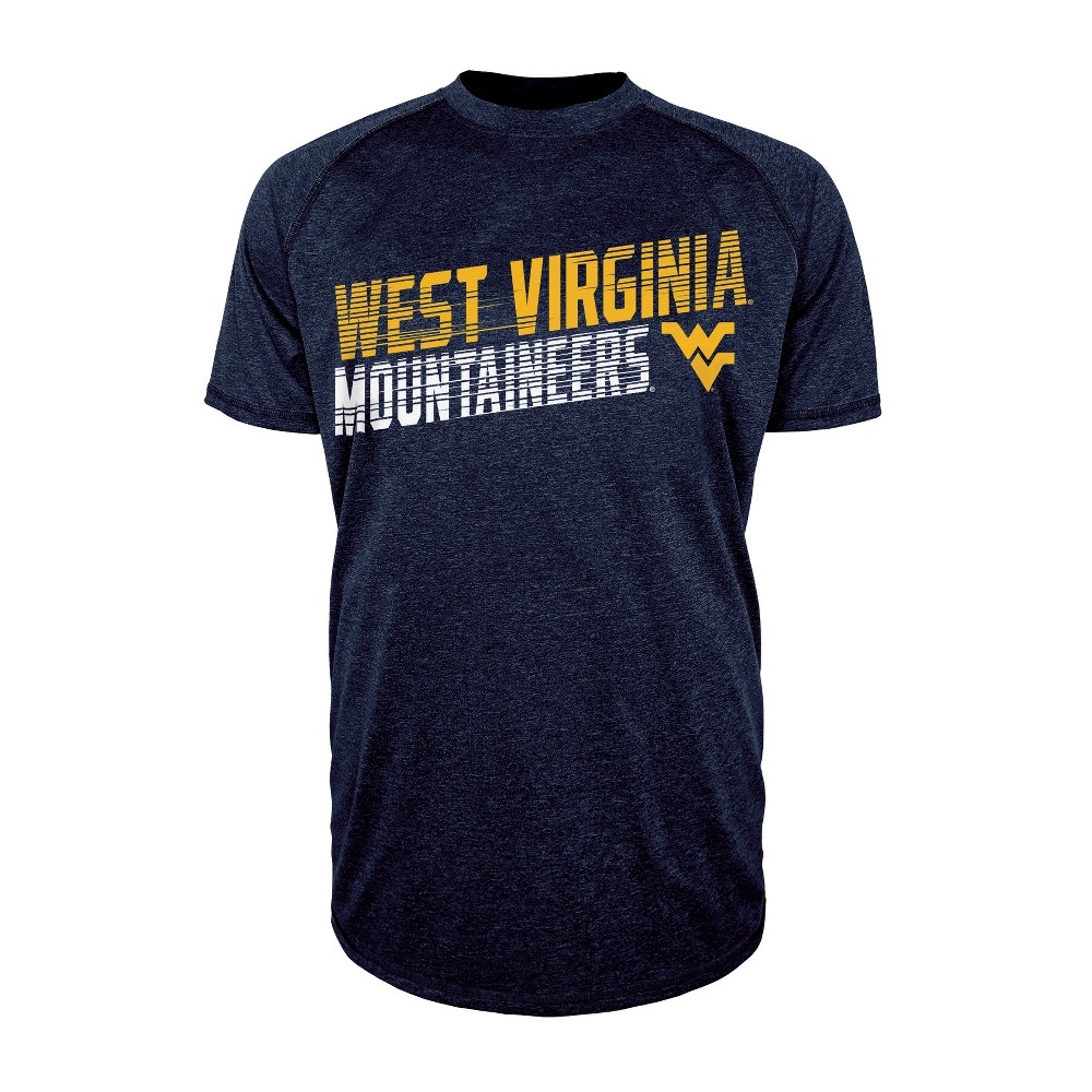 West Virginia Mountaineers Men's Short Sleeve Raglan Performance T-Shirt - M, Multicolored