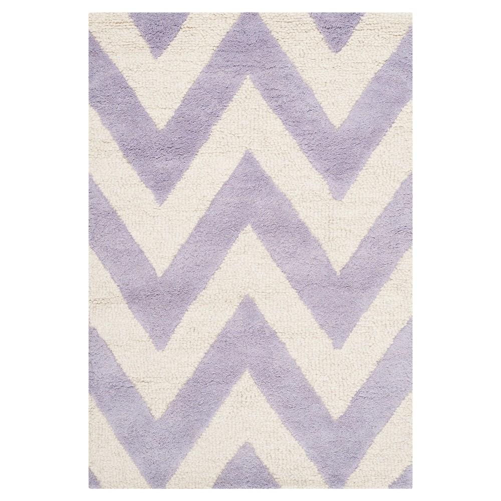 Dalton Textured Rug - Lavender / Ivory (2'6 X 4') - Safavieh, Purple/Ivory
