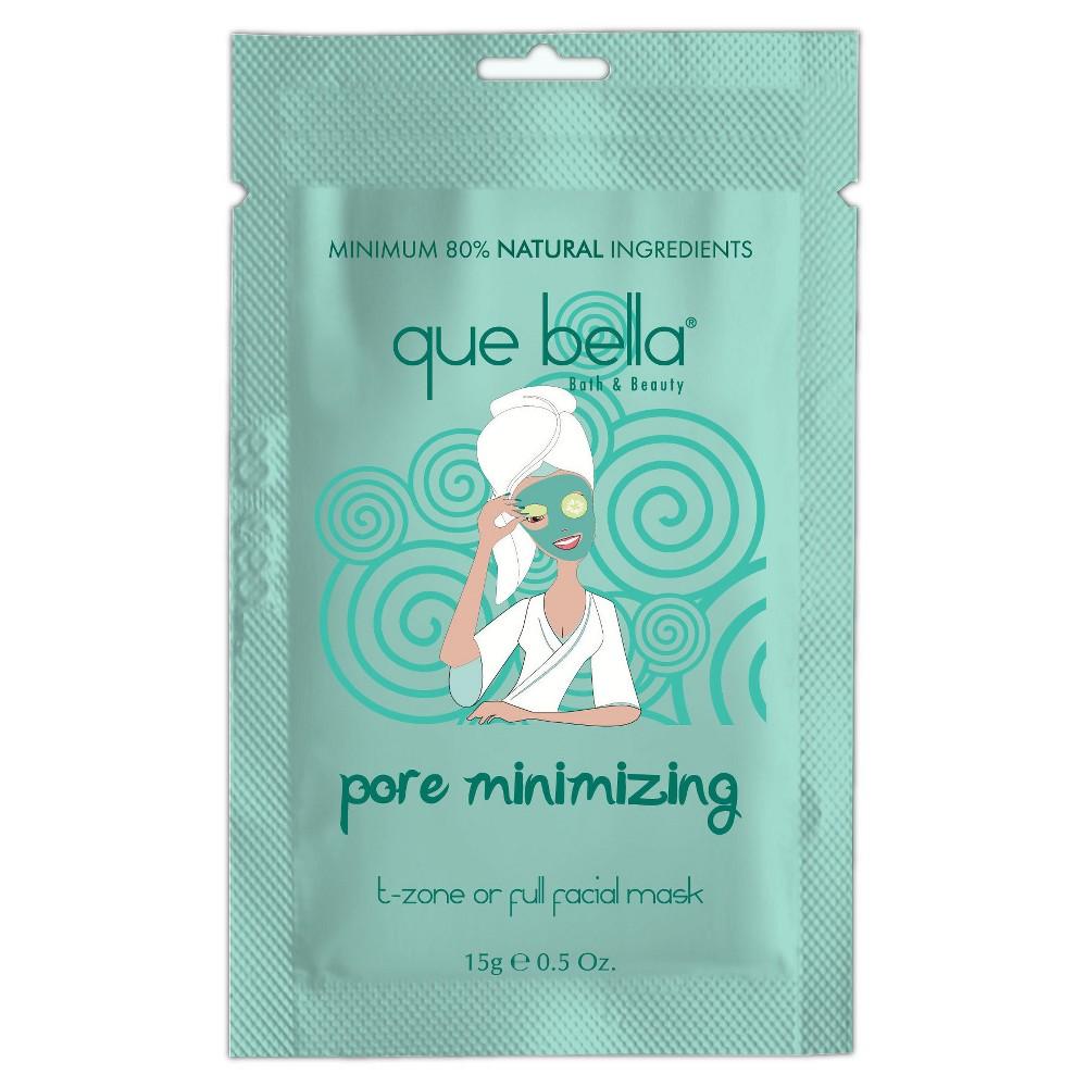 Que Bella Pore Minimizing Mud Mask - 0.5oz, Light Blue